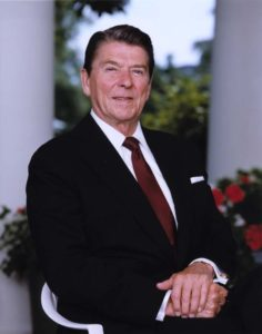 President Ronald Regan Outside Oval Office in 1983