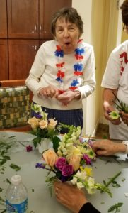 Senior at a Flower Therapy Workshop